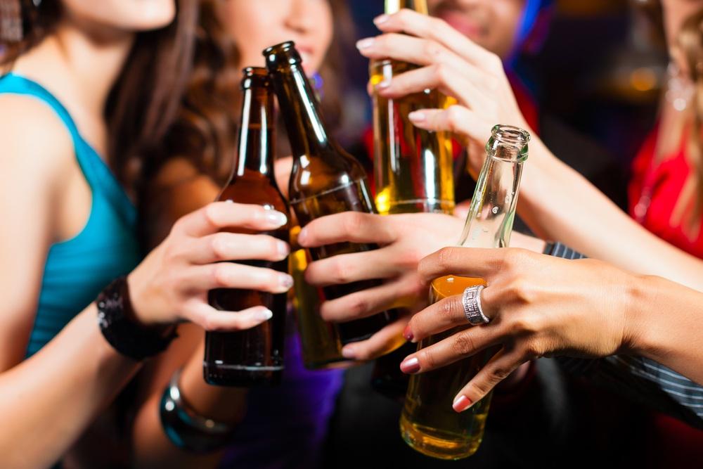 Teens Drinking Beer